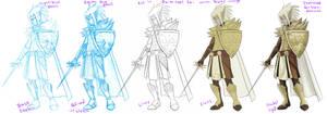 Erin - coloring process