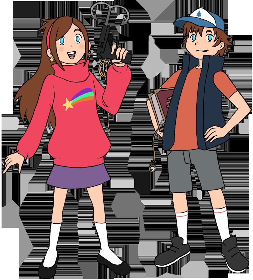 GF - Mabel and Dipper by pyrogina