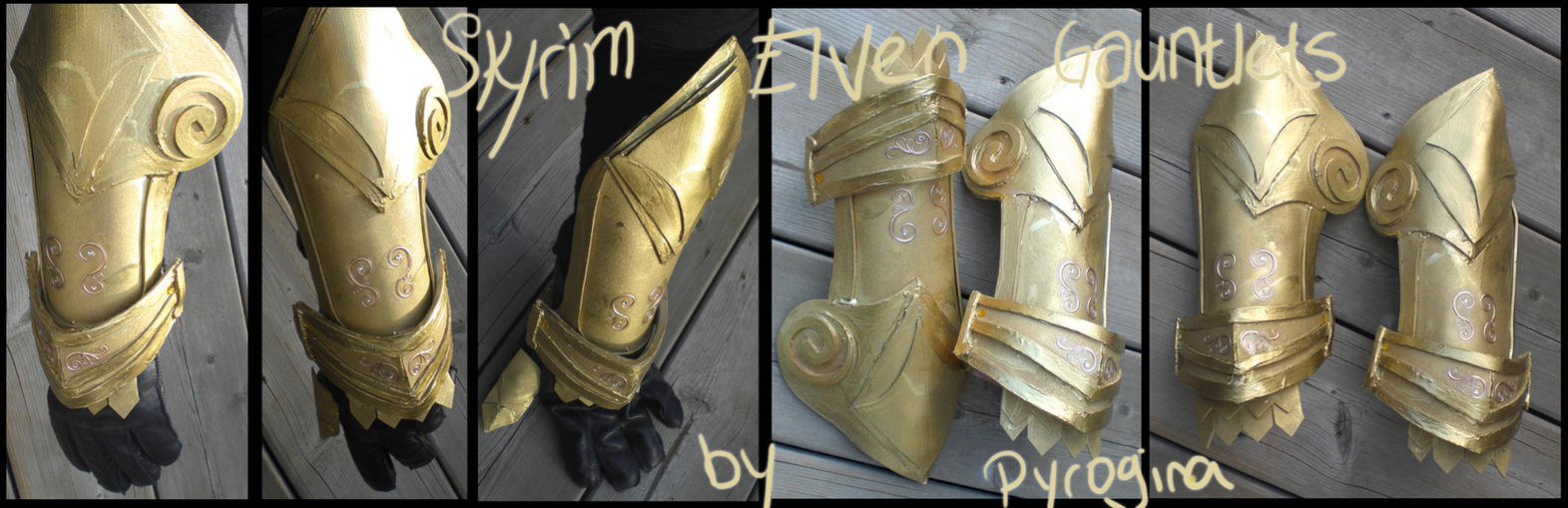 Skyrim - Elven Gauntlets by pyrogina