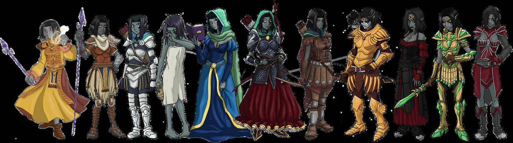 Misora's outfits by pyrogina