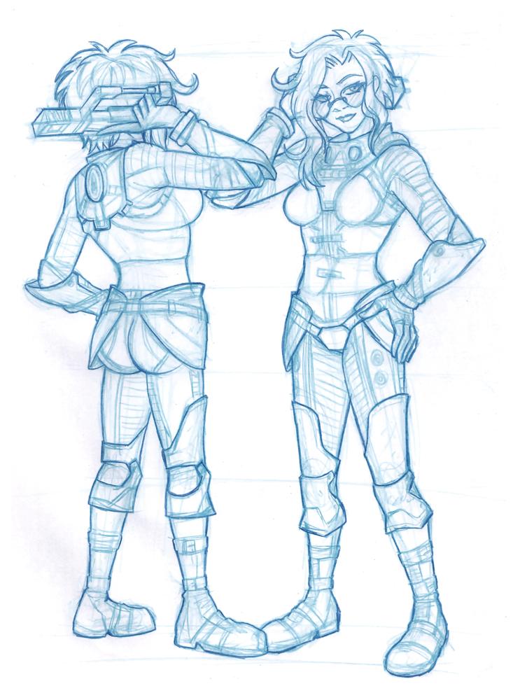 Fallout Setsu sketch by pyrogina