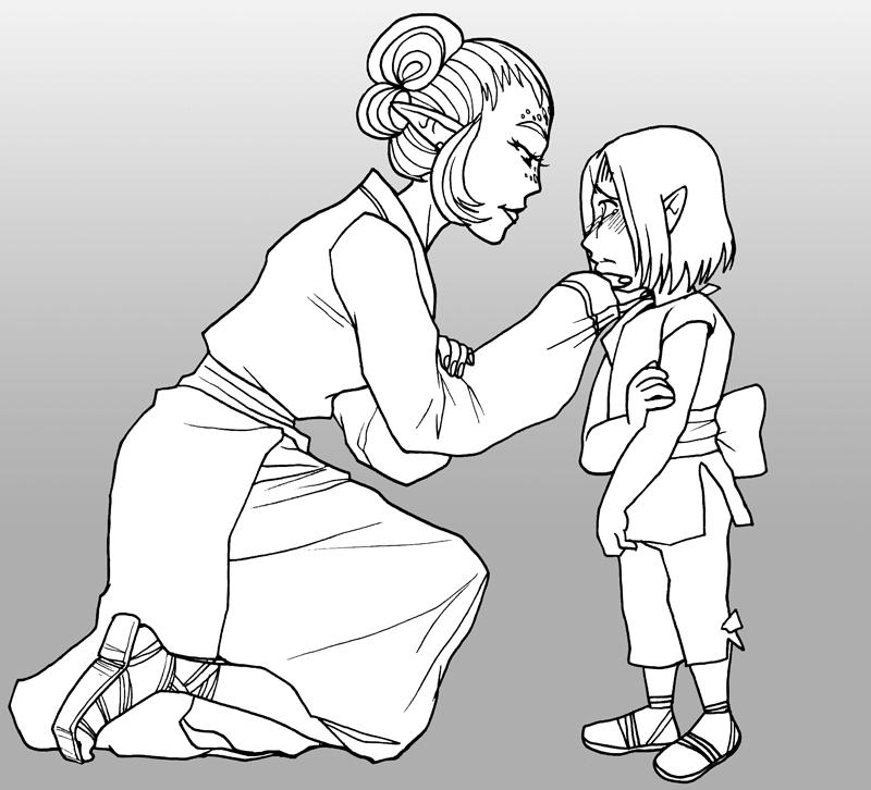Dorisa and Misora by pyrogina