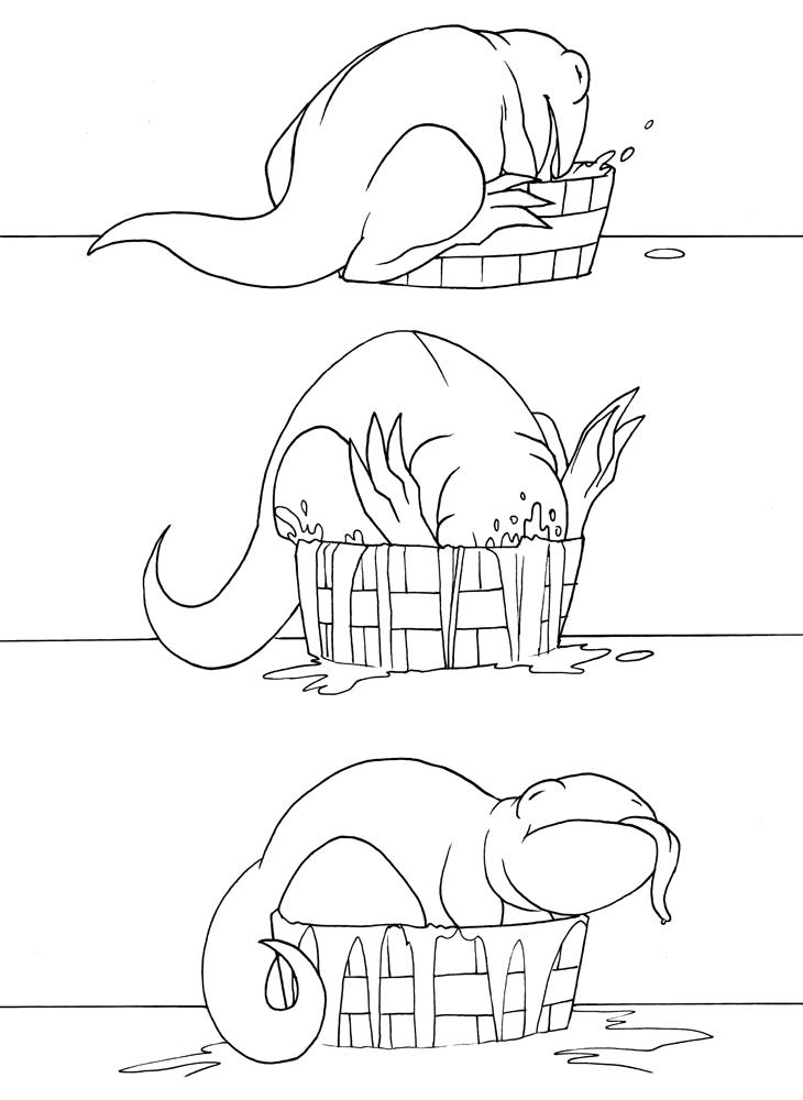 albus wants a bath by pyrogina