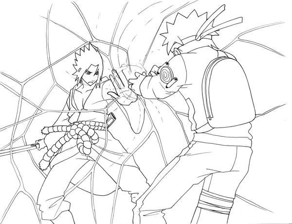 naruto vs sasuke coloring pages - naruto rasengan coloring pages coloring pages