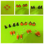 Polymer Clay Halloween Earrings