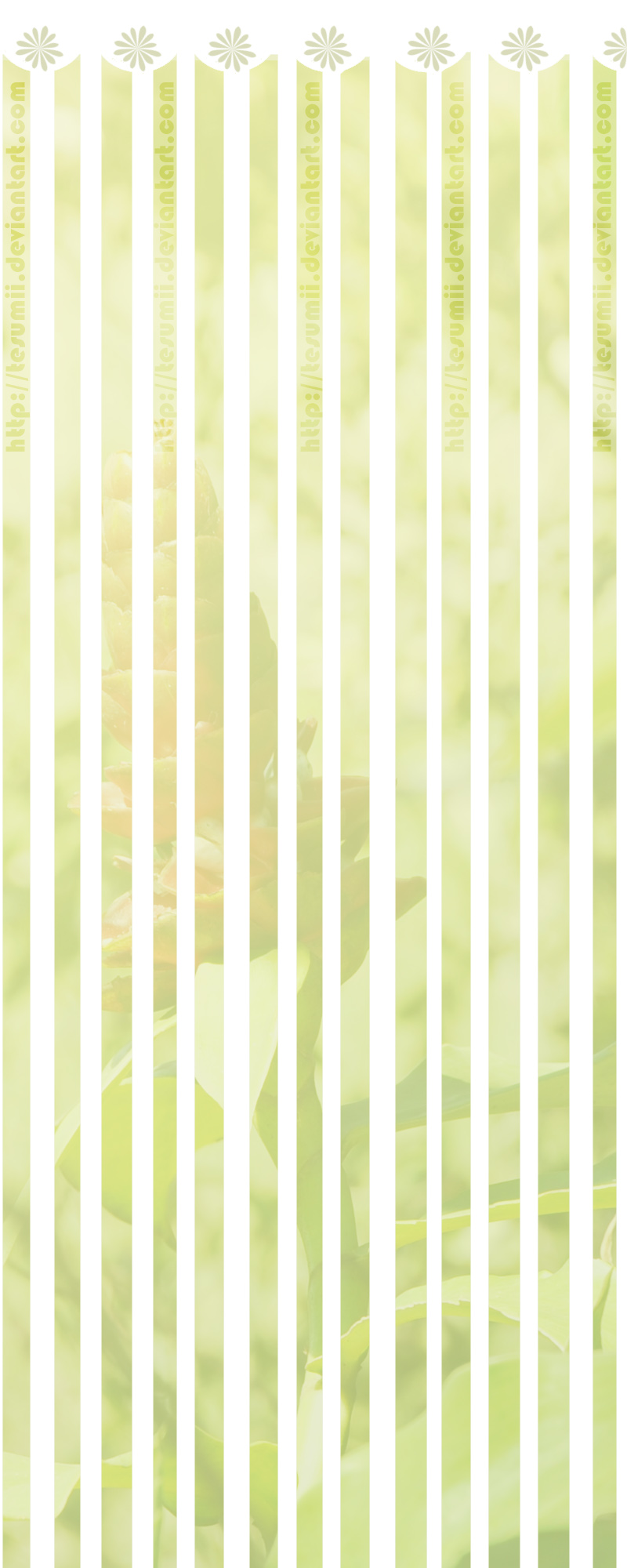 Background FLOWER Green by tesumii