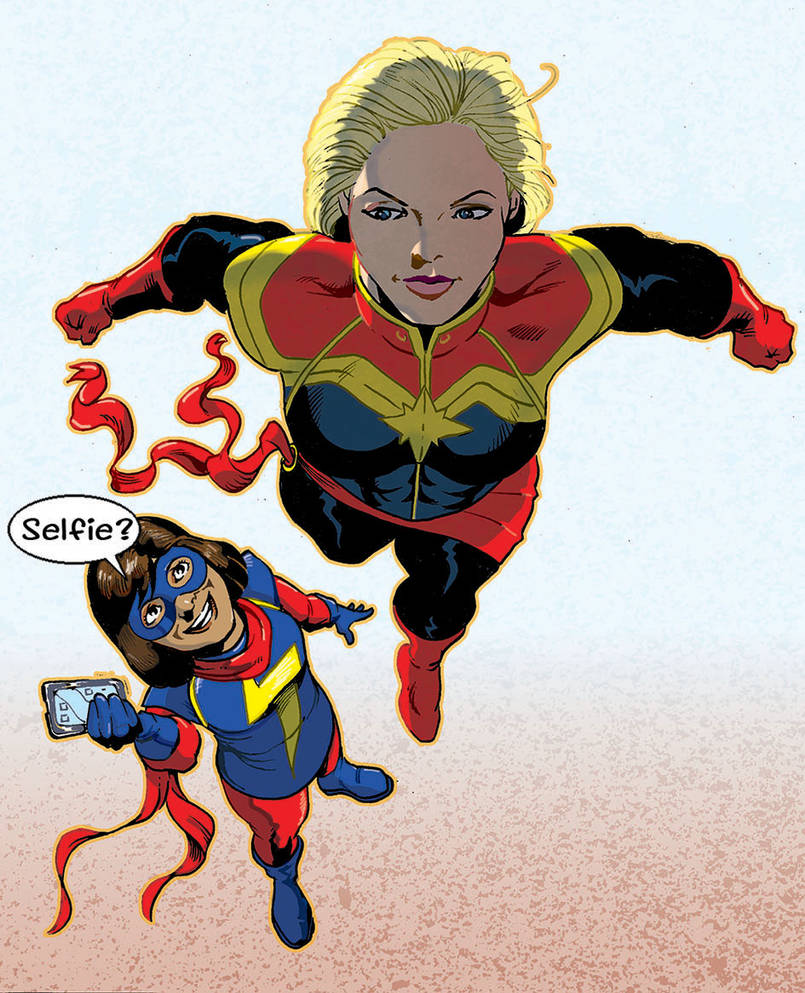 captain marvel and ms marveljamieslorry on deviantart