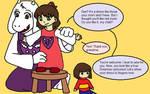 Once Upon A Handplate: Toriel, the goat-grandma by MissJulyFarraday
