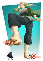 Commission ~ Beneath Hokage (Clean Foot Ver.) by SpokleArt