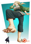Commission ~ Beneath Hokage (Clean Foot Ver.)