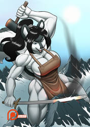 Comm ~ Mountain Forged (small free web version) by SpokleArt