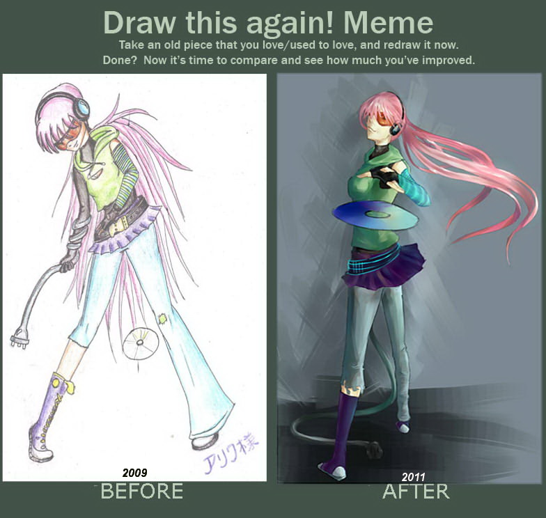Draw this again meme by Arriva-sama