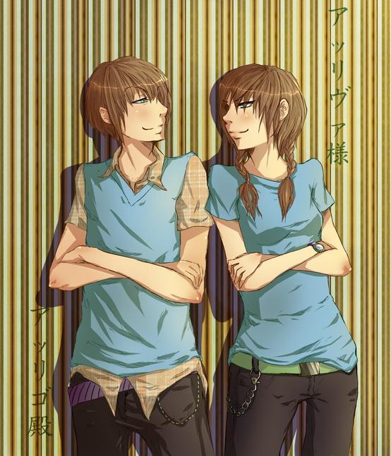 Gabriellla és Peter Smite Twins_by_arriva_sama-d4bdln4