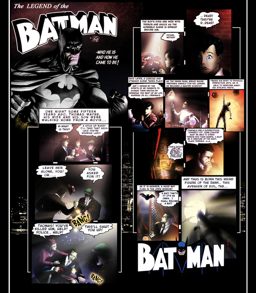 The LEGEND of The BATMAN by taymerica