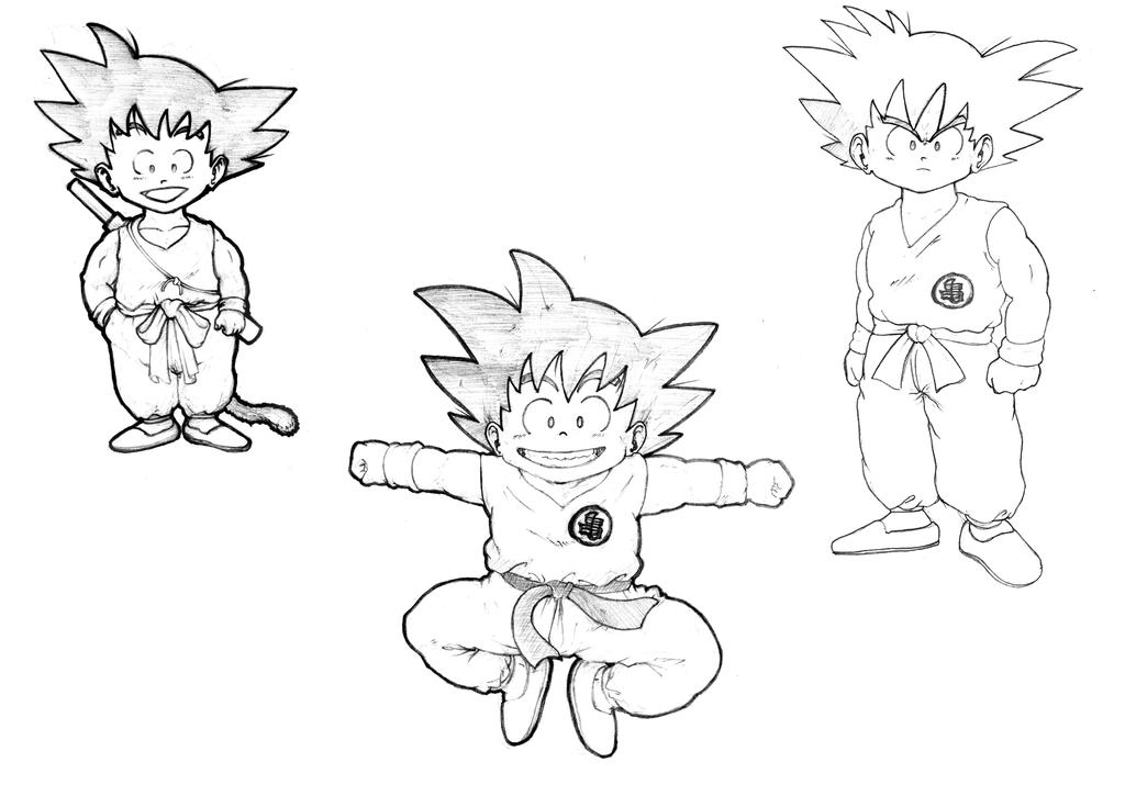Goku Sketches by taymerica