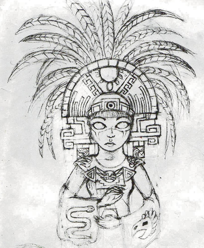 Aztec by LadyFatality on DeviantArt  Aztec Pencil Drawings