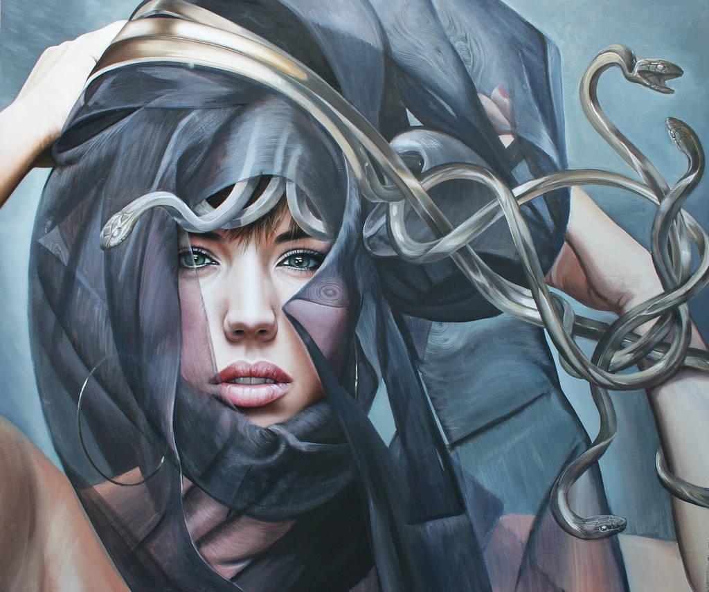 Medusa in progress by Raipun