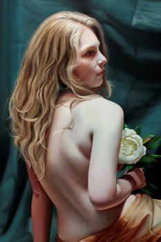 Detail, White Peony