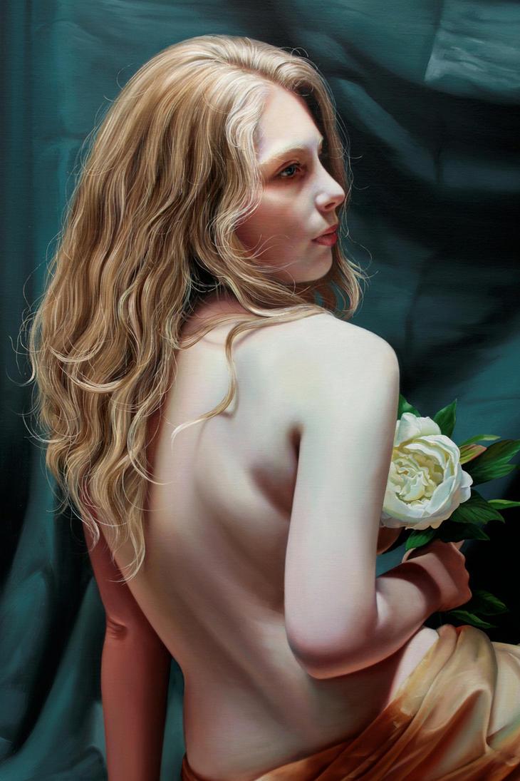 Detail, White Peony by Raipun