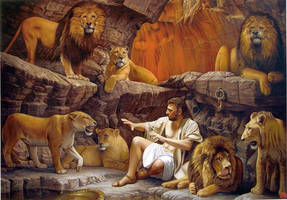 Daniel and the lions by Raipun