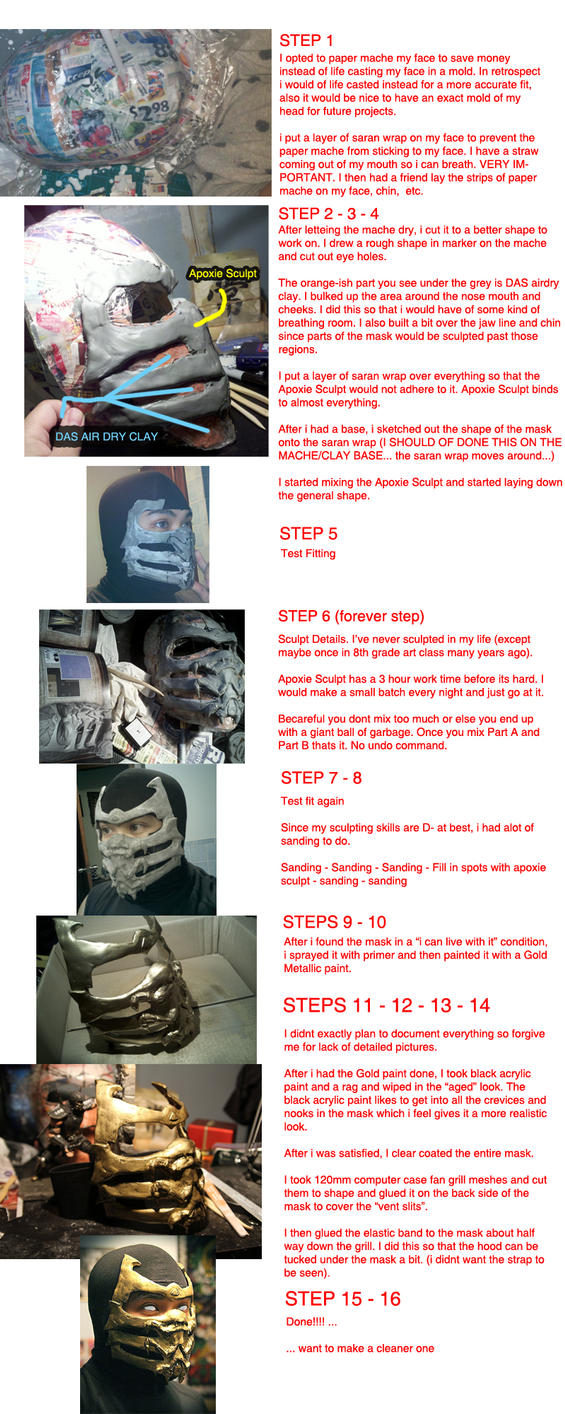 My Scorpion Mask MK9 - Build process/tutorial by arekusu83
