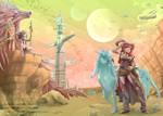 Space western by Mokolat-Illustr