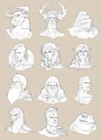 Fantasy Headshots by Mokolat-Illustr