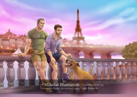 Balade dans Paris by Mokolat-Illustr