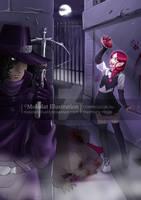 Evaline and the Hunter by Mokolat-Illustr