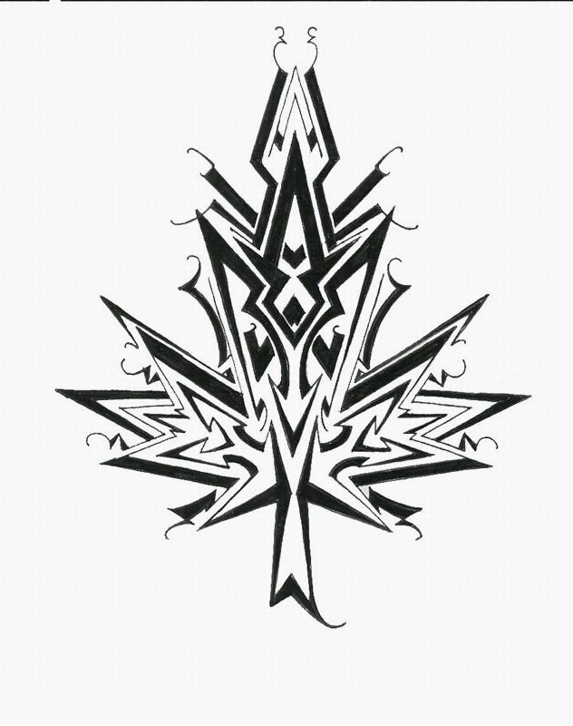 maple leaf design tribal style by nox dracoria on deviantart. Black Bedroom Furniture Sets. Home Design Ideas