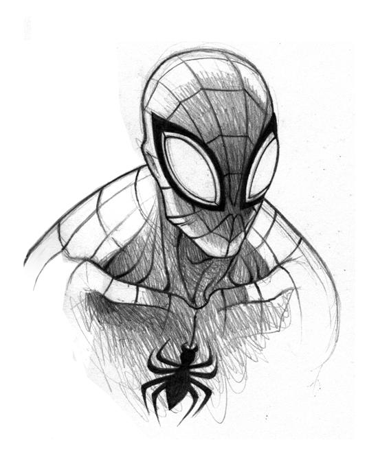 Spiderman Face Line Drawing : Superior spiderman sketch by hawklye on deviantart