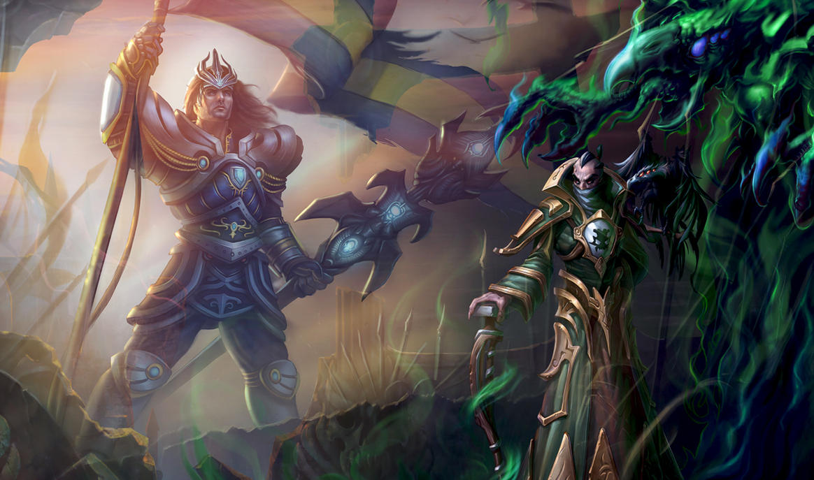 League of Legends! Jarvan vs Swain by Deoillidan
