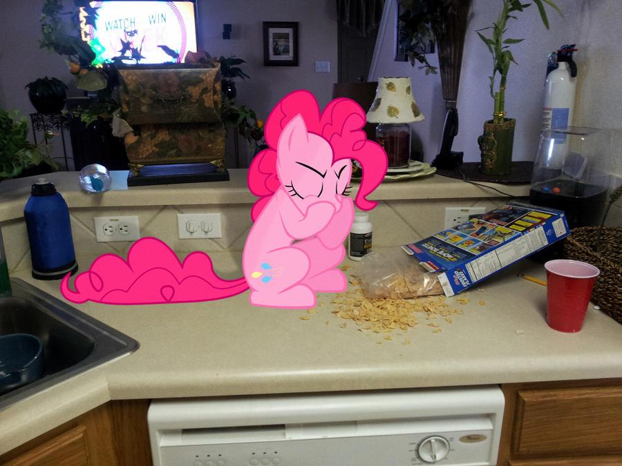 Pinkie Pie Eating my Flakes! by EMedina13