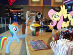 Fluttershy Working in Concession