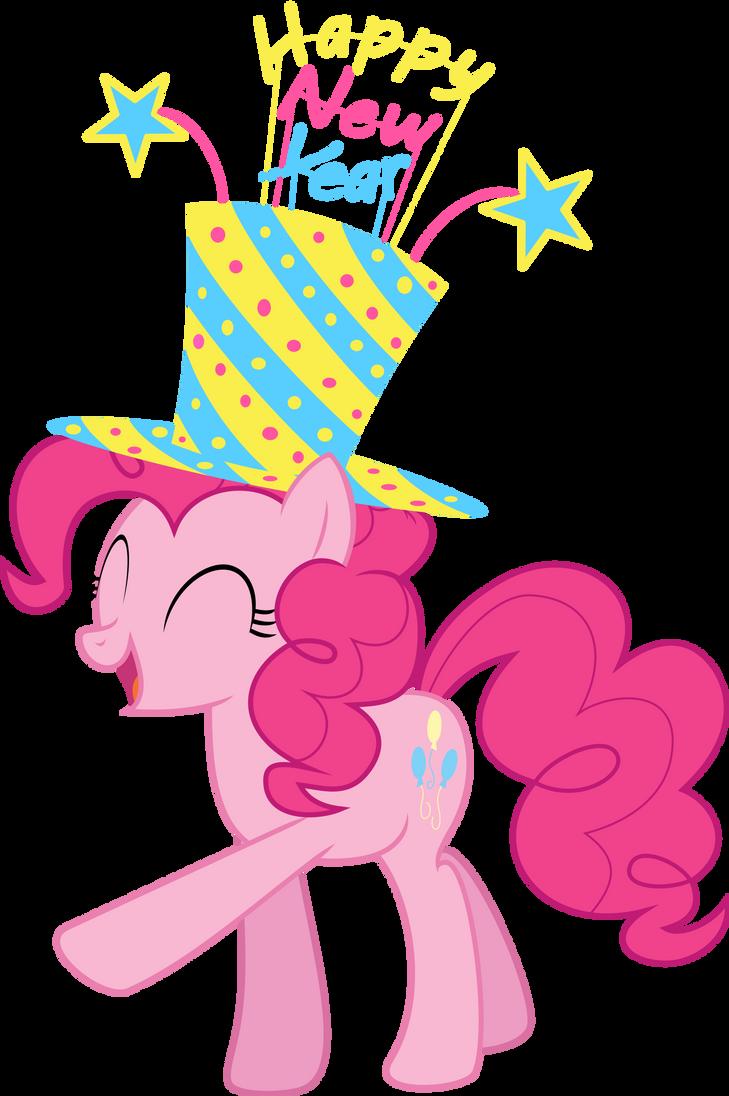 Pinkie Pie's New Year Spirit- New Years Collab by EMedina13