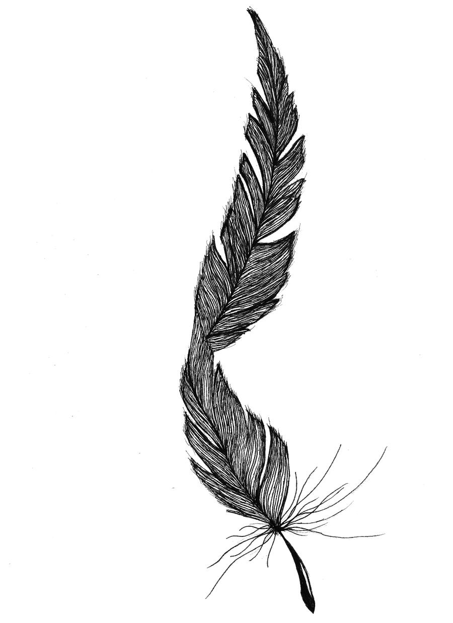 feather tattoo by jayceja on deviantart. Black Bedroom Furniture Sets. Home Design Ideas