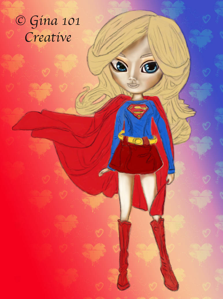 Supergirl Doll Work In Progress by Gina-101-Creative