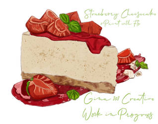 Strawberry Cheesecake Work In Progress 2 by Gina-101-Creative