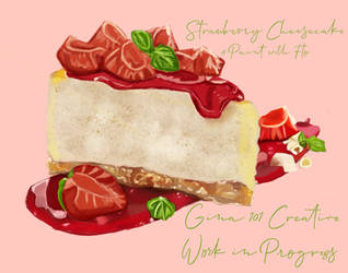 Strawberry Cheesecake Work In Progress 4 by Gina-101-Creative