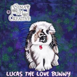 Lucas The Love Bunny - Easter Egg Pendant