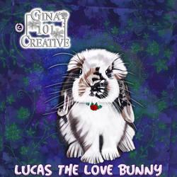 Lucas The Love Bunny - Rose Pendant