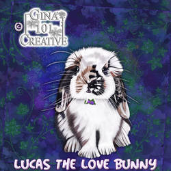 Lucas The Love Bunny - Flower Pendant