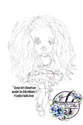Flora Chibi Doll sketch preview
