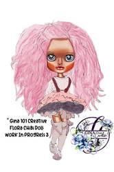Flora Chibi Doll work in progress 3