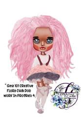 Flora chibi doll work in progress 4