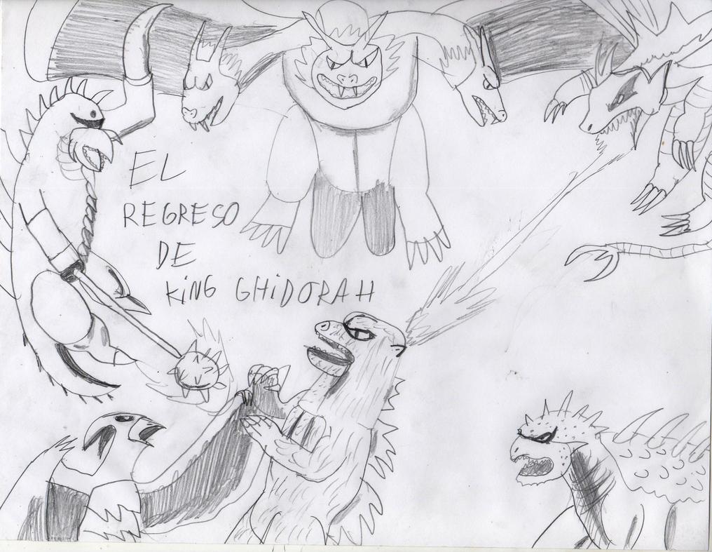 the return of king ghidorah by NovaBlueGoji