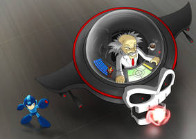 Dr. Wily and Mega Man by Design-Escape