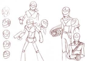 Protomen Protoman sketches by Design-Escape