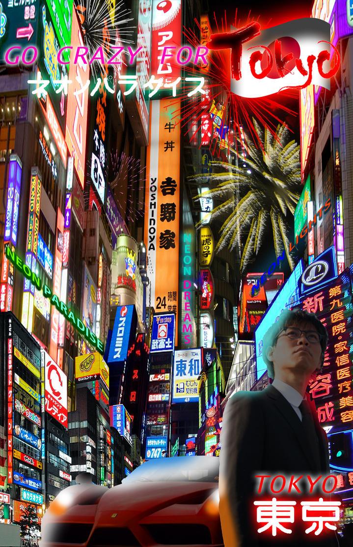 Digital Collage- Tokyo Nights (FINAL) by Gaming-Master