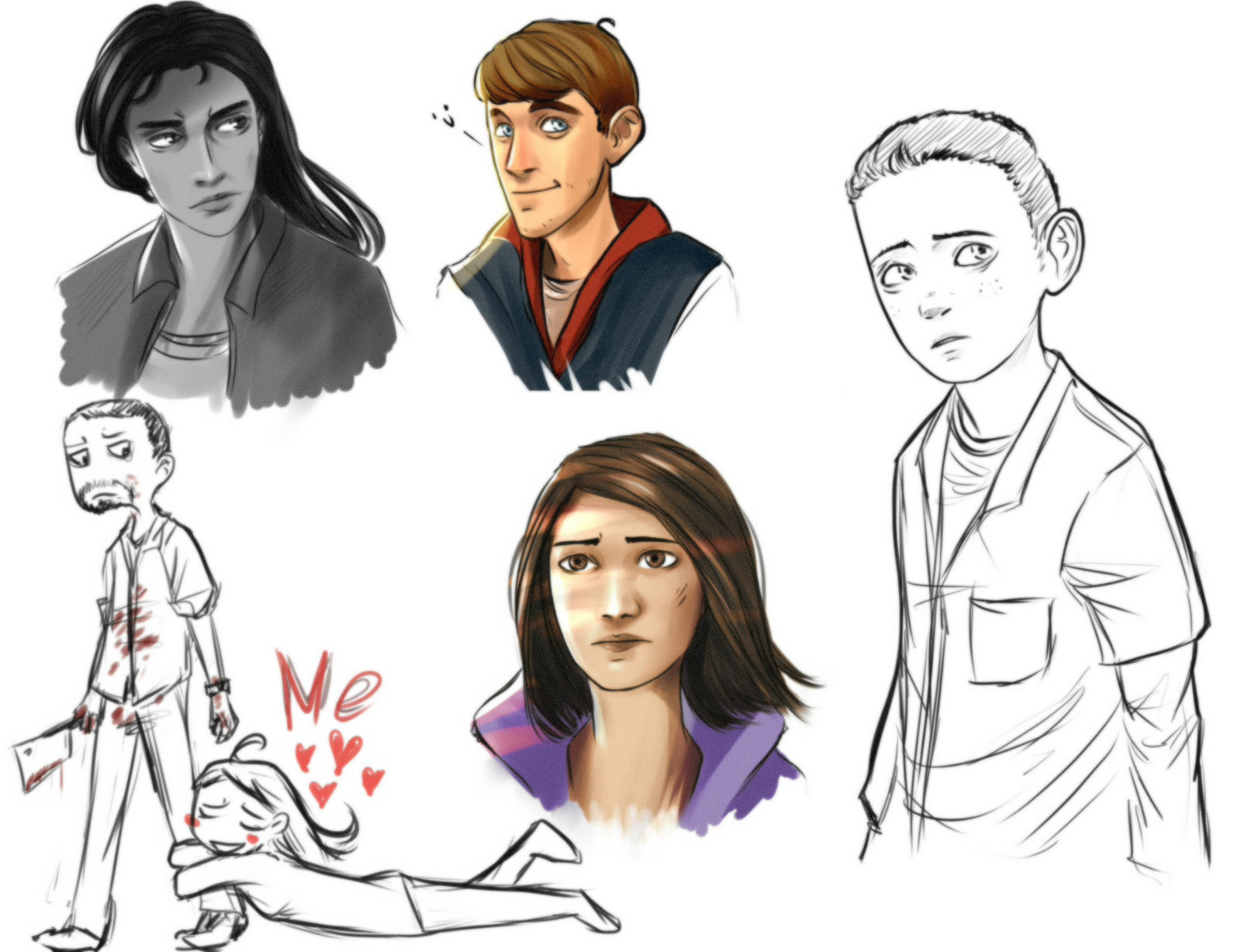 MOAR TWD sketches by Nateyou